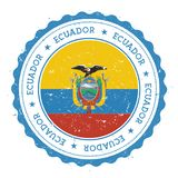 Grunge rubber stamp with Ecuador flag. Stock Image