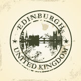 Grunge rubber stamp with Edinburgh, United Kingdom Royalty Free Stock Photography