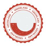 Grunge rubber stamp with Greenland flag. Royalty Free Stock Photos