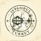 Grunge rubber stamp with Istambul, Turkey Royalty Free Stock Photos