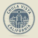 Grunge rubber stamp or label with text Chula Vista, California. Written inside, vector illustration Stock Photo