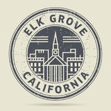 Grunge rubber stamp or label with text Elk Grove, California. Written inside, vector illustration Royalty Free Stock Photography