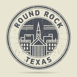 Grunge rubber stamp or label with text Round Rock, Texas. Written ine, vector illustration Stock Images