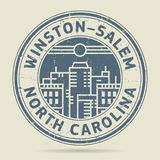 Grunge rubber stamp or label text Winston-Salem, North Carolina. Grunge rubber stamp or label with text Winston-Salem, North Carolina written inside, vector Stock Photo