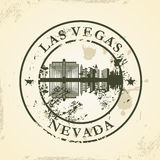 Grunge rubber stamp with Las Vegas, Nevada Stock Photo