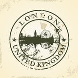Grunge rubber stamp with London, United Kingdom Stock Photos