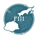 Grunge rubber stamp with name and map of Fiji. Grunge rubber stamp with name and map of Fiji, vector illustration. Can be used as insignia, logotype, label Royalty Free Stock Photos