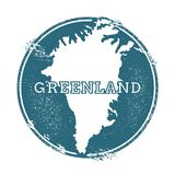 Grunge rubber stamp with name and map of. Grunge rubber stamp with name and map of Greenland, vector illustration. Can be used as insignia, logotype, label Royalty Free Stock Image