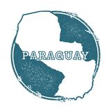 Grunge rubber stamp with name and map of. Grunge rubber stamp with name and map of Paraguay, vector illustration. Can be used as insignia, logotype, label Royalty Free Stock Photography