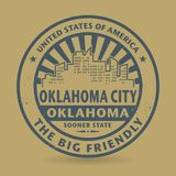 Grunge rubber stamp with name of Oklahoma City, Oklahoma Stock Photography