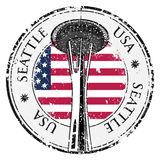 Grunge rubber stamp with name of Washington, Seattle, vector Stock Image