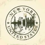 Grunge rubber stamp with New York, USA Stock Photography