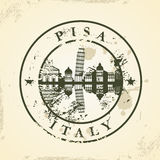 Grunge rubber stamp with Pisa, Italy Royalty Free Stock Image