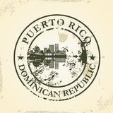 Grunge rubber stamp with Puerto Rico, Dominican Re Royalty Free Stock Photos
