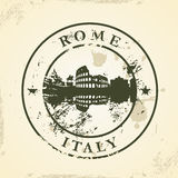 Grunge rubber stamp with Rome, Italy Stock Images