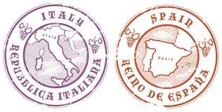Grunge rubber stamp set