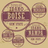 Grunge rubber stamp set Idaho Stock Photography