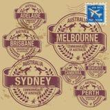 Grunge rubber stamp set royalty free illustration