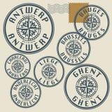 Grunge rubber stamp set Royalty Free Stock Image