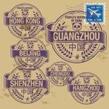 Grunge rubber stamp set Stock Image