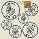 Grunge rubber stamp set Royalty Free Stock Photos
