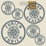 Grunge rubber stamp set Stock Images