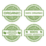 Grunge Rubber Stamp Set. Organic Product, Certified. Vector Illustration Royalty Free Illustration