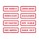 Grunge Rubber Stamp Set For A Shop Stock Photography