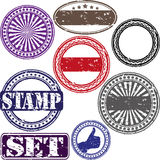 Grunge rubber stamp set Stock Photography