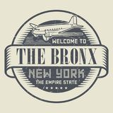 Grunge rubber stamp or tag with text Welcome to The Bronx, New Y. Ork, vector illustration Royalty Free Stock Photography