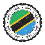 Grunge rubber stamp with Tanzania, United. Stock Image
