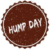 Grunge rubber stamp with the text HUMP DAY written inside the stamp Royalty Free Stock Images