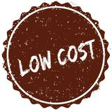 Grunge rubber stamp with the text LOW COST written inside the stamp. Illustration Stock Photos