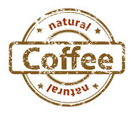 Grunge rubber stamp with text natural coffee,  Royalty Free Stock Photo