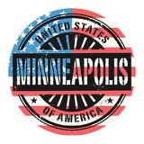 BGrunge rubber stamp with the text United States of America, Min. Grunge rubber stamp with the text United States of America, Minneapolis, vector illustration Vector Illustration
