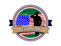 Grunge rubber stamp with the text Veterans Day written inside Royalty Free Stock Photo