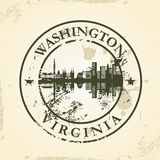 Grunge rubber stamp with Washington, Virginia Royalty Free Stock Photos