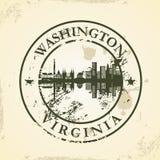 Grunge rubber stamp with Washington, Virginia Royalty Free Stock Photos
