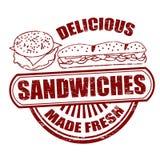 Sandwiches stamp Stock Photo