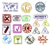 Grunge rubber stamps Royalty Free Stock Photos