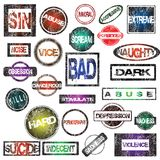Grunge rubber stamps collection Royalty Free Stock Image