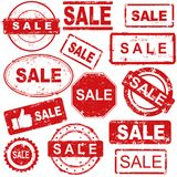 Grunge rubber stamps collection Royalty Free Stock Photography
