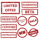Grunge rubber stamps set Stock Photo
