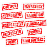 grunge rubber stamps - warning Royalty Free Stock Image