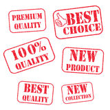 Grunge rubber stamps Stock Photo