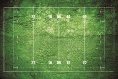 Grunge Rugby-Feld Stockfotografie