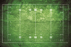 Grunge Rugby Field royalty free illustration