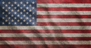 Grunge rugged USA flag Royalty Free Stock Images