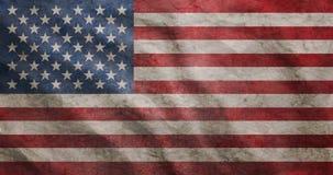 Grunge rugged USA flag. Weathered USA flag grunge rugged condition waving Royalty Free Stock Images