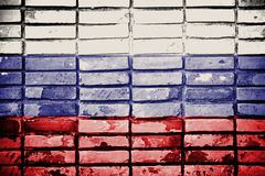 Grunge Russia flag Stock Photos